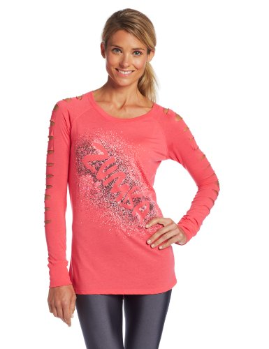 Zumba Fitness, Top Donna Air-Glow Slashed Sleeve, Rosa (Cosmo), XL