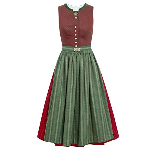 Hammerschmid Damen Trachten-Mode Midi Dirndl Titisee in Rot traditionell