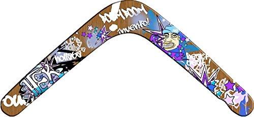 Bumerang,Boomerang,Sport-Bumerang Natural Graffiti (Left)