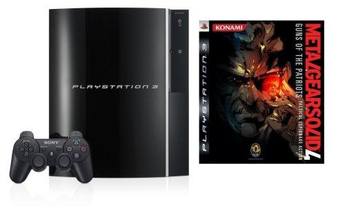 PlayStation 3 Konsole 40 GB Black inkl. Metal Gear Solid 4