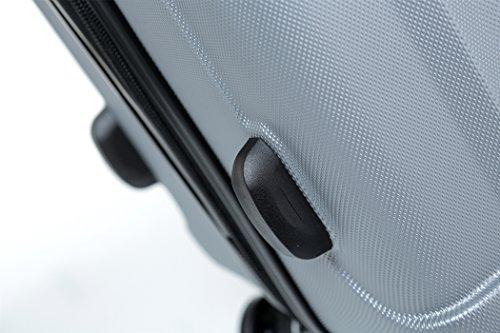 TSA-Schloß 2080 Hangepäck Zwillingsrollen neu Reisekoffer Koffer Trolley Hartschale XL-L-M(Boardcase) in 12 Farben (Silber, M) - 5