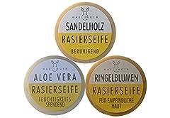 3er Set Haslinger Rasierseife, Sandelholz