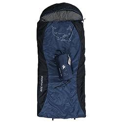 10T Kinderschlafsack DOLPHIN 180x75 XL Deckenschlafsack 300g/m² Delphin Schlafsack Blau / Schwarz