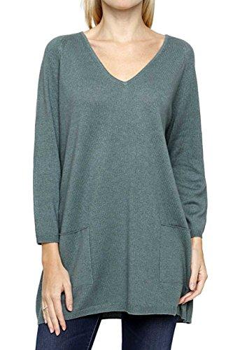 Lai La New York Damen Pullover Kaschmir Seiden Pure Cashmere SONJA, Farbe: Gruen, Größe: 50 (York-kaschmir-pullover New)