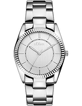 s.Oliver Damen-Armbanduhr Analog Quarz Edelstahl SO-3189-MQ