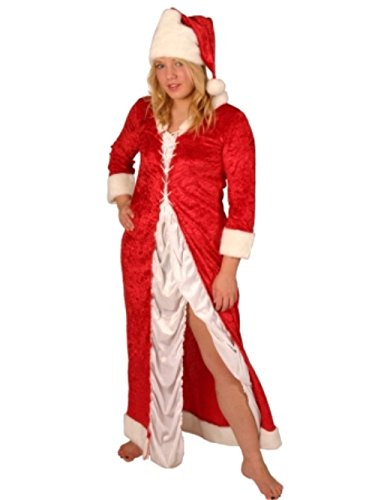 Authentisch Santa Hut - Weihnachten Kostüm-Girl Santa Dress-Sexy Langarm, Kleid