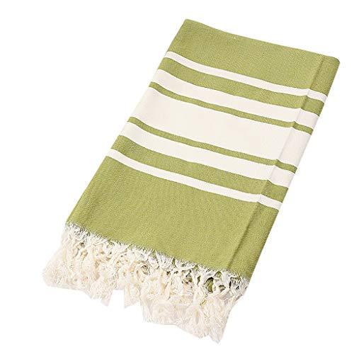 YA-Uzeun Handtuch, Handtücher für Zuhause, Doppelstrand, Baumwolle, Bad, Strand, Sauna, Yoga, Jacquard, 100 x 180 cm -