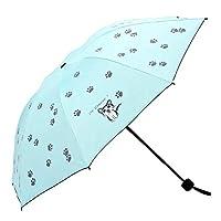 Ogquaton Sun Umbrella Cat Vinyl Folding Anti-UV Umbrella