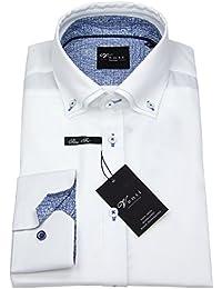 Venti Herren Hemd Slim Fit Button Down Patch weiß 162541900 000