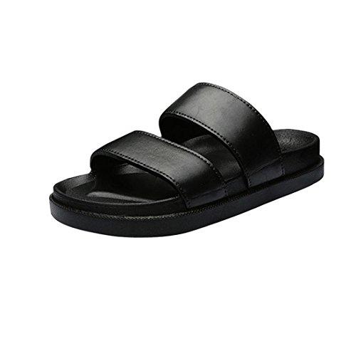 Malloom® Sandalen, Männer Frauen Paar Flip Flops Sandalen Gummi Freizeitschuhe Sommer Fashion Beach Flip Flops Schwarz Männer