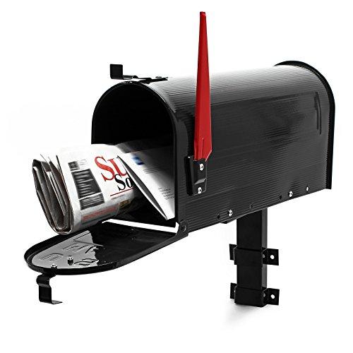 Cassetta postale americana us mailbox con supporto a parete - nero