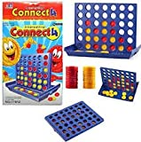 Party Nasha Plastic A Row Connect 4 Compact Board Game (Blue)