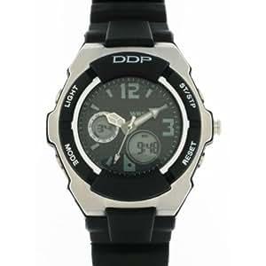 EGG DDP - 4037101 - Montre Garon - Quartz Analogique et Digital - Bracelet en Plastique Noir