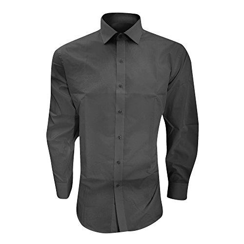 Brook Taverner - Camicia Classica Manica Lunga - Uomo Nero