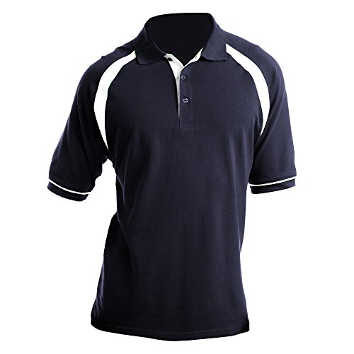 Kustom Kit Oak Hill Herren Polo-Shirt, Kurzarm Schwarz/Weiß