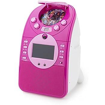 auna ScreenStar • Karaoke • Karaoke Player per bambini • Kit Karaoke • Schermo 9 cm TFT • Telecamera • 2 microfoni dinamici • Cassa Integrata • CD, USB e SD • Registrazione MP3 e AVI • Colore Rosa