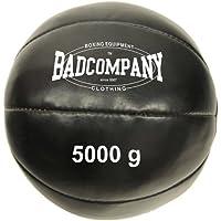 Bad Company Professioneller Medizinball I Vollball aus Kunstleder - Schwarz