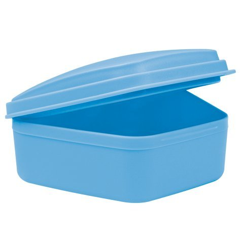 wellsamed Zahnspangendose Spangendose Prothesendose blau 1 Stück