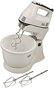 Black+Decker 300w 5 Speed Multifunction Bowl And Stand Mixer, White - M700, 2 Year Warranty