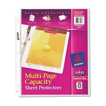 ige Top-Load Schutzfolien, stark, Buchstaben-Design, transparent, 25 Stück ()