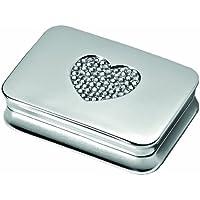Pillendose rechteckig 2fach geteilt versilbert mit Herzmotiv preisvergleich bei billige-tabletten.eu