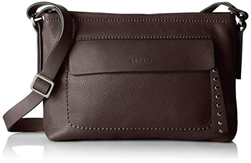 Esprit Accessoires Damen 088ea1o007 Schultertasche, Braun (Dark Brown), 5x17x24 cm