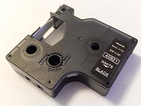 vhbw Kassette Patronen Schriftband 9mm für Dymo LabelMaker PC, PC2 wie Dymo D1, 40921.