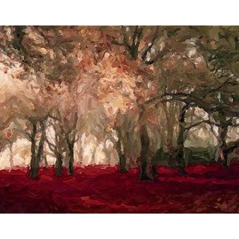 Forest Floor Crimson A2, dal Greene Taylor-Stampa su tela in