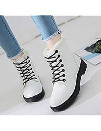 e08bacd0 Shukun Botines Zapatos de algodón de otoño e Invierno. Zapatos de Invierno  para Estudiantes. Zapatos de Tobillo Martin. Zapatos de Mujer…