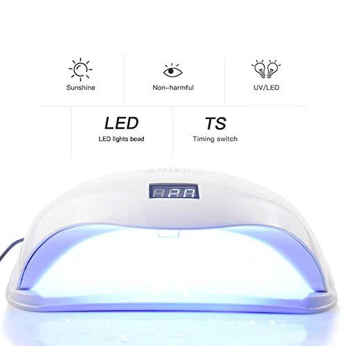 Xianxian88 UV-LED-Nageltrockner, Induktion intelligente Multi-Range-Anstellung 24 Doppel-Lichtquellen-Nagelkleber-Härtlampe, geeignet für den persönlichen/professionellen Einsatz