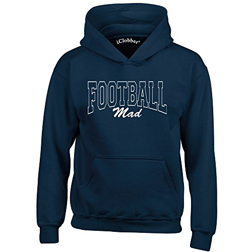 iClobber Football Mad Hoodie Age 12-13 Navy