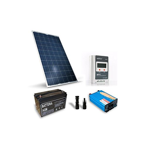 Alpenhutte-Solar-Kit Base 250W 12V, Photovoltaik-Anlage, Stand-alone-System