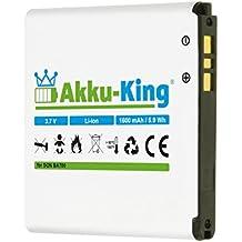 Akku-King Batterie pour Sony Ericsson Xperia neo V pro ray, Halon, Iyokan, Azusa, Urushi, ST18, ST18i, SO-01C, MT15a, MT15i, MK16i - remplace BA700 - Li-Ion 1600mAh