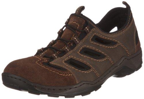 Rieker 08065 Sneakers-Men, Herren Sneakers, Braun (cigar/tabak/schwarz/26), 42 EU
