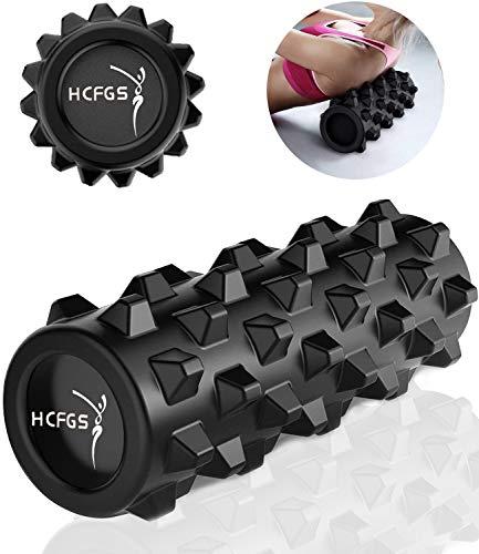 HCFGS Faszienrolle - Foam Roller Gymnastikrolle für Triggerpunkt-Massagerolle, Selbstmassage Schaumstoffrolle mit Tragetasche beim Faszientraining,Blackrolle Rolle (schwarz)