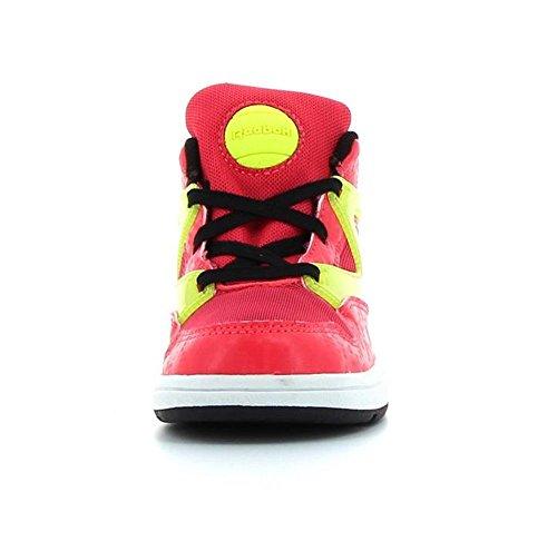 Reebok Unisex Baby Versa Pump Omni Lite Sneaker Rosa / Negro / Amarillo / Blanco (Fearless Pink/Blck/Solar Yellow/Wht)