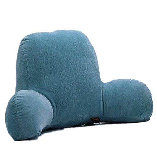 Colorfulworld Lendenkissen Stützkissen Bedrest Weich Plüsch Kissen für Auto, Bett, Büro-Stuhl und Sofa (65x40x26cm) (08)