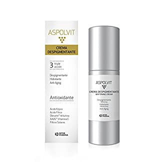ASPOLVIT – Crema despigmentante y antioxidante facial con vitaminas, aloe vera y ácido cítrico. Elimina las manchas de la cara – 30 ml