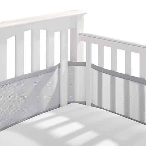 Tours de lit, Doublure en Maille 4 côtés pour lit de bébé Respirant Anti-Collision pour la...