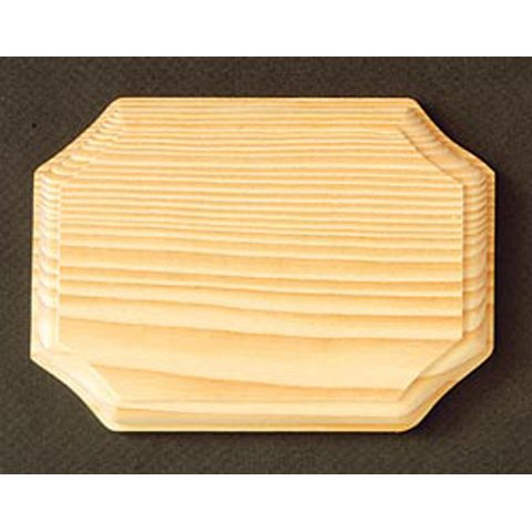 Chunky French Corner Solid Pine Wood Plaque to Decorate -