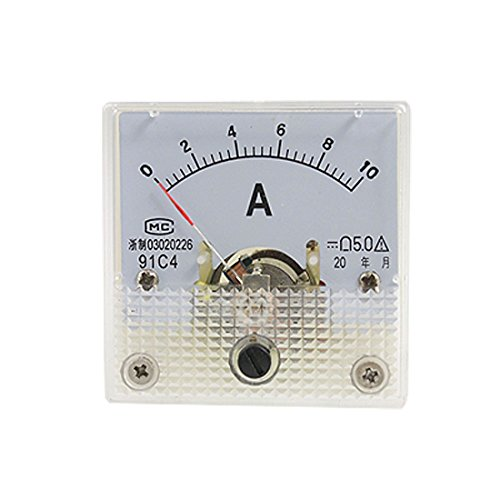 Moligh doll Quadratische Blech 91C4 Montage Amperemeter 10A DC Current Meter -