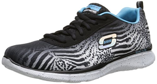 Skechers Equalizer Surf Safari, Sneakers basses femme noir (BKW)