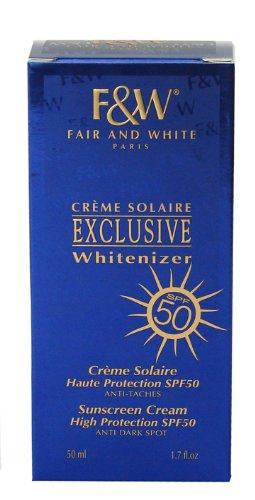 Fair and White Exclusive Whiten izer Sunshine tactile Cream SPF50 50 ml