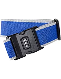 Vosarea Luggage Straps Adjustable Safety Travel Bag Accessories With Combination Lock - B07GZK2YKK