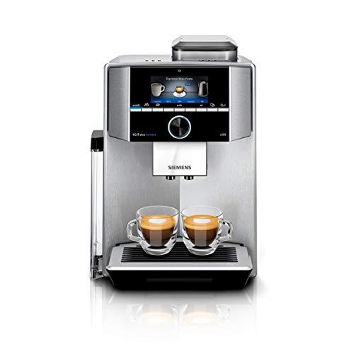 Siemens TI9555X1DE EQ.9 s500 plus connect Kaffeevollautomat (1500 Watt, vollautomatische Dampfreinigung, Baristamodus, Home Connect, sehr leise, iAroma) edelstahl