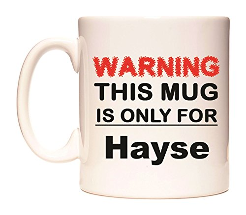 WARNING THIS MUG IS ONLY FOR Hayse Becher von WeDoMugs