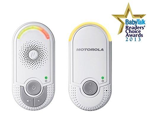 Motorola MBP 8 Babyphone, Digitales Wireless Babyfon, Mit Nachtlicht und DECT-Technologie, Zur Audio-Überwachung, Weiß - 2