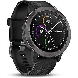 Garmin Vivoactive 3 con GPS, pulsómetro y Negro (Gunmetal)