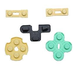 OSTENT Konduktive Gummi-Kontaktpad-Taste D-Pad kompatibel für Sony PS2 Controller - Packung mit 10 Stück
