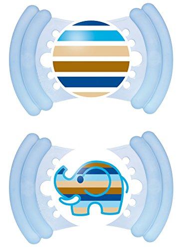 MAM 302411 – Soft Latex 16+, Schnuller, für Jungen, Doppelpack, farblich sortiert – BPA frei
